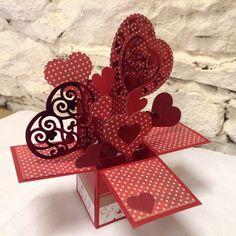 Valentine pop up box. Claire Pearson