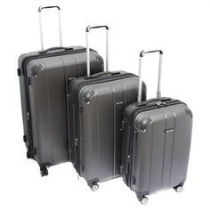Click Image Above To Purchase: Kemyer Lightweight Expandable Hardside Spinner Luggage Set - Carbon Luggage Shop, Hardside Spinner Luggage, Store, 3 Piece, Gadgets, Shopping, Board, Image, Ideas