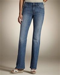 I'm wearing these right now: Chico's jeans. So comfy!