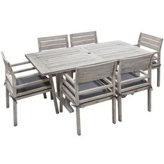 Sunscape Acacia 7 Piece Timber Dining Setting | Stratco