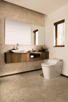 Pin on トイレ Interior Design Toilet, Toilet Design, Bathroom Interior, Modern Bathroom, Small Bathroom, Bad Inspiration, Bathroom Inspiration, Toilet Room Decor, Modern Toilet