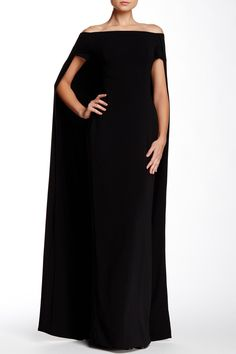 Cape Accent Gown by Issue New York on @nordstrom_rack  THE MOST PERFECT MOB DRESS