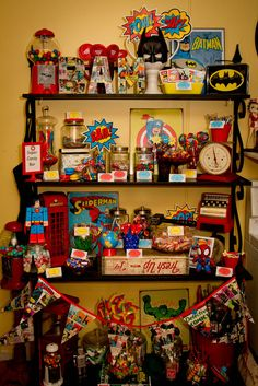 Awesome SuperHeroes Birthday Party!  See more party ideas at CatchMyParty.com!