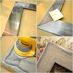 How to create a distressed picture frame with Chalk Paint® decorative paint by Annie Sloan | By Debbie of The Unfolded Blog