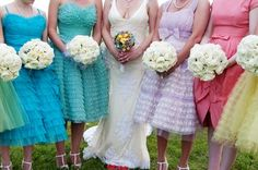 Love the idea not a huge fan of the ruffles but the different colors and the flowers