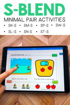 Do your students ever look confused when you introduce minimal pairs therapy? This interactive deck makes teaching ALL S, L, Speech Therapy Activities, Activities For Kids, Minimal Pair, Phonological Processes, Speech Delay, Speech Pathology, Speech And Language, Pediatrics, Confused