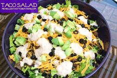 Michelle's Tasty Creations: Michelle's Taco Salad