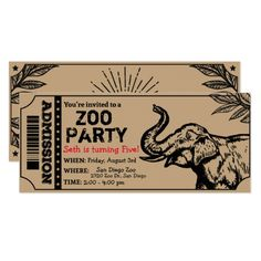 120 Best Zoo Birthday Party Invitations Images Zoo Birthday