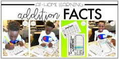 FREEBIE: Students complete addition math fact assessments at home!