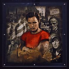 Hommage Goodfather – Plexiglas Druck  #RengglisGallery#DanieleDondé #Dondé#Erlenbach#Rapperswil#IAA #Novarca@cutnroll.ch#MarlonBrando #Hollywood