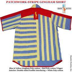 4f6f767a Patchwork-stripe Gingham Shirt via Hamlet Pericles, Inc.    #HamletPericlesFashion #Fashion