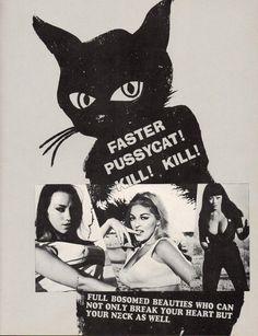 Poster design for Russ Meyer's Faster Pussycat! Kill! Kill!