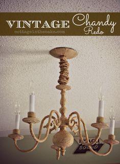 Vintage Chandelier Makeover #diy #chandeliermakeover