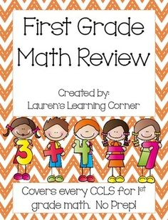In need of 1st grade math practice? This packet contains review pages for every CCLS for first grade math.  It covers all four areas of first grade math according to the CCLS including: Operations and Algebraic Thinking, Numbers and Operations in Base Ten, Measurement and Data, and Geometry.