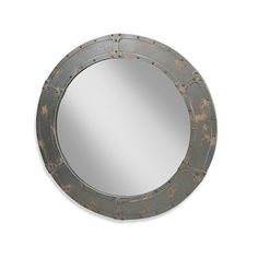 Moe's Home Collection Large Nautic Mirror in Grey - BedBathandBeyond.com