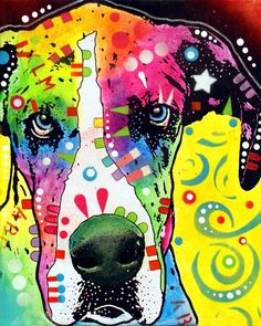 Colorful Great Dane
