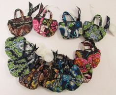 Vera Bradley Key Chain Coin Purse 4 Versions of Misc Mini Bags Lot of 12 SB0119 #VeraBradley