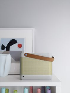 Bang & Olufsen is now at DWR.   Beolit 12 Sound System | Designed by Cecilie Manz, Styling by Studio Marcus Hay