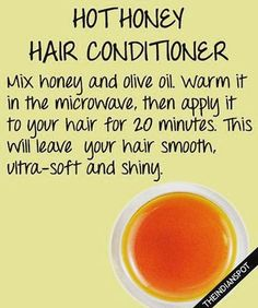 Get soft, shiny hair with a hot honey hot conditioner - #honey #shinyhair…