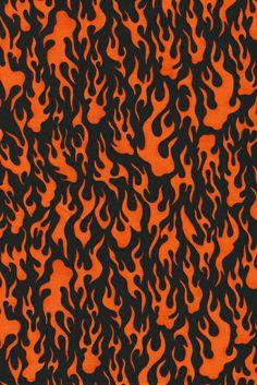 Øko-bomuld/lycra m/flammer, sort/orange