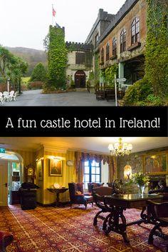 Seeking castle hotels in Ireland? This hotel in a castle in County Galway, Ireland has fun, quirky luxury. Read why people love Abbeyglen Castle Hotel! Ireland Vacation, Ireland Travel, Galway Ireland, Clifden Ireland, Cork Ireland, Castle Hotels In Ireland, Castles In Ireland, The Places Youll Go, Places To Go