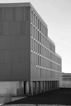 EQUITONE facade materials. Housing project in Valdebebas (Spain). architect: Francisco Mangado. #architecture #material #facade www.equitone.com