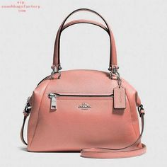 COACH Prairie Satchel In Pebble Leather. Crafted in soft, lightweight pebbled leather with a bit of sheen, this simple, gracefully curved shape distills the satchel its purest form. Very refined hardware complements the minimalist design Handbags On Sale, Coach Handbags, Coach Purses, Purses And Handbags, Ladies Handbags, Replica Handbags, Womens Purses, Fashion Bags, Women's Fashion