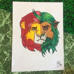 #drawing #draw #dessin #lion #color #style