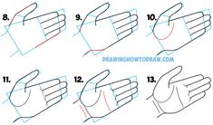 Learn How to Draw Cartoon Hands Open Palm - Drawing Open Palmed Hands - Simple Step by Step Drawing Tutorial for Beginners
