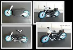 Motorbike tutorial and LOTS Motorcycle Cake, Motorcycle Birthday, Bike Cakes, Cake Models, Foundant, Sport Cakes, Fondant Decorations, Biscuit, Modeling Chocolate