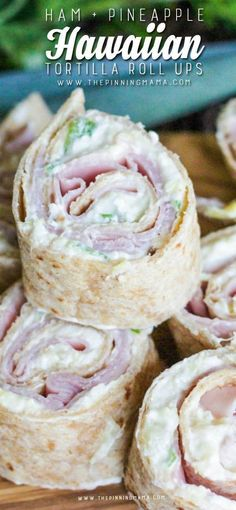 Ham & Pineapple Tortilla Roll Up Recipe - If you have never tried this., you have to! This is so good! Even my kids love this to be packed in their lunch box for an easy school lunch idea.