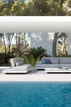 garden collection by MANUTTI, design Gerd Couckhuyt. Outdoor Rooms, Indoor Outdoor, Outdoor Living, Outdoor Decor, Outdoor Lounge, Indoor Pools, Outdoor Seating, Gazebos, Dream Pools