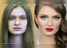 Russian artist Vadim Andreev has mastered the art of make-up. Upon first glance you might think that these images have been touched up with Photoshop, but in actual fact all the work you see here has been done with make-up. Le Contouring, Contour Makeup, Face Makeup, Beauty Make-up, Beauty Hacks, Hair Beauty, Vadim Andreev, Maquillage Pin Up, Eye Makeup Blue