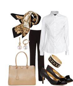 """Ideas for White Shirts...No 3"" by annabouttown ❤ liked on Polyvore"