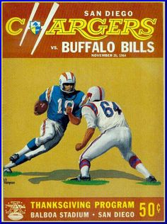 San Diego Chargers! / November 26, 1964