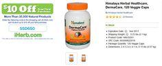 Himalaya Herbal Healthcare, DermaCare, 120 Veggie Caps   http://iherb.com/Himalaya-Herbal-Healthcare-DermaCare-120-Veggie-Caps/15458