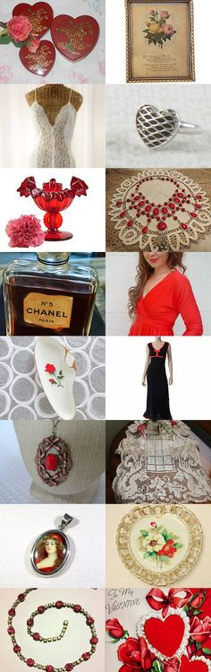 Valentine's Day Romance, Vintage Explosion Style by Sarah Bennett on Etsy--Pinned with TreasuryPin.com
