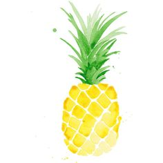 """Piña Pineapple Watercolor Print 5 x 7"""", 8 x 10"""", 11 x 14"""" ($15) ❤ liked on Polyvore featuring home, home decor, wall art, fillers, art, cosas, extra, food, word wall art e typography wall art"""