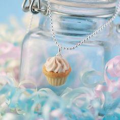 Vanilla Cupcake Necklace