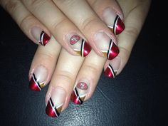 Awesome 49er nails!