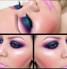 Green/purple eyeshadow did someone say peacock