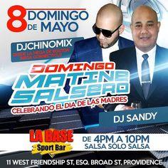 El 8 de Mayo estare por Primera Vez en LA BASE SPORT BAR en Rhode Island junto a mi broth @djsandydelacruz en los Domingos De Matinee salseros .....Celebrando el Dia De Las Madres ........ #teamdjchinomix #djchinomix #elmezclologo #djsandy #labasesportbar #salsasolosalsa by djchinomixoficial