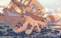 《宮崎駿水彩繪圖》溫柔的筆觸令人久久無法忘懷