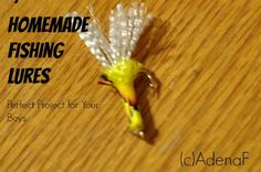 Great Project for Boys: Homemade Fishing Lures