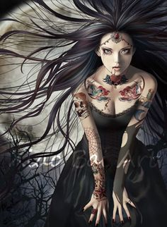 Vampire Bride by Zhang Xiaobai. #ZhangXiaobai #Art #Illustration #DigitalArt