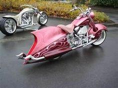 Pink Harley Davidson Motorcycle
