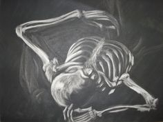 skeleton subtractive drawing by eyez2theskiez, via Flickr