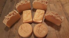 Custom batch of mothers breast milk soap. I have been making milk soap for years. This is the first time making this type of milk soap ( custom customer request) , I wasnt aware of how much fat is in mothers milk & the results are a super creamy, highly emoliant moisturizing gentle bar of soap for mom & baby. This soap is helpful for any & all skin issues including diaper rash , cradle cap, baby acne, exzema & sensitive or very dry skin. Awesome for mama too! Made by Aroma soap lab…