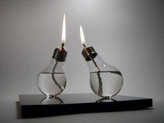 Crea tu propia lámpara de aceite con una bombilla