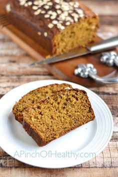 This pumpkin spice bread cuts (but does not eliminate) the sugar and oil by using a mashed banana for natural sweetness and some greek yogurt for texture. I also use half whole wheat flour and half white flour. The wheat gives is a tad more fiber and nutrition, while the white gives it a lovely texture and rise. My toddler and husband give their stamp of approval too. So it officially passes the taste test. Because what good is making something a little healthier if you have to sacrifice the…